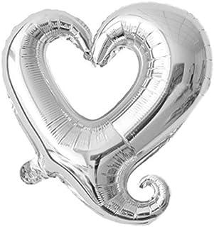 eDealMax Foil diseño del corazón inflación Fiesta de la boda del Globo Celebración Decoración 14,