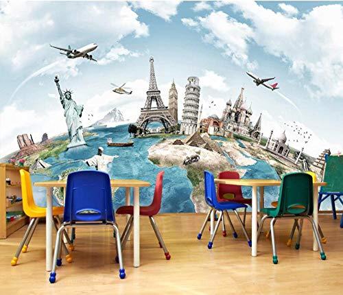 Behang, muurverf, achtergrond, personaliseerbaar. Decoratieve wanddecoratie. Reizen over de hele wereld. Context. 350 x 245 cm