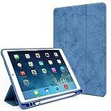 GHC Pad Fundas & Covers para iPad 2018 9.7 Air 2 Air 1 Air 3 10.5, Vintage PU Funda de Cuero para iPad 10.2 2019 7th Gen 6th Pro 11 2020 2018 (Color : Dlue, Talla : For iPad Air 3 10.5)