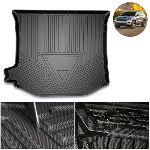 Handao-US TPE Kofferraummatte für Jeep Grand Cherokee 2011-2021 All-Season Kofferraumschutz,Klassische abnehmbare strapazierfähige Kofferraummatte aus Gummi,Schwarz