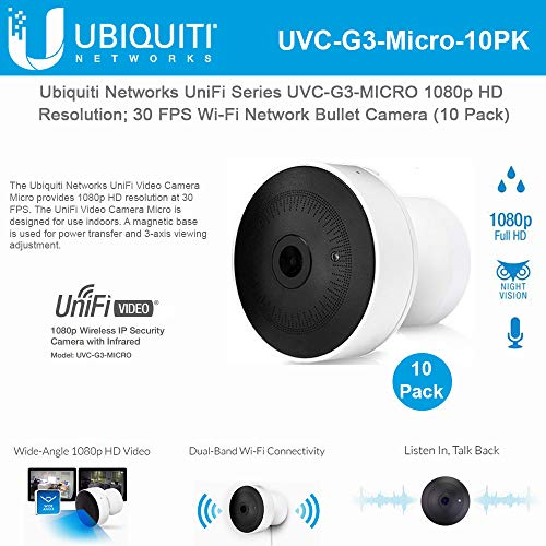 Great Price! UniFi G3 Micro Camera UVC-G3-MICRO 1080p HD Resolution 30 FPS Wi-Fi IP Camera Micro-Siz...