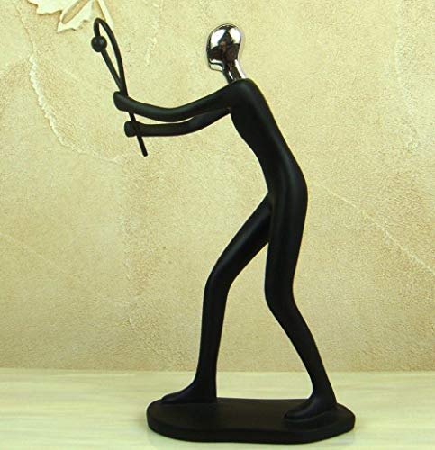 YIYINGSI Skulptur Statuen Kleine Skulptur,Abstrakte Sport Figur Harz Sport Badminton Spieler Miniatur Sammlung Grand Prix Souvenir Dekor Geschenk Handwerk Ornament Zubehör