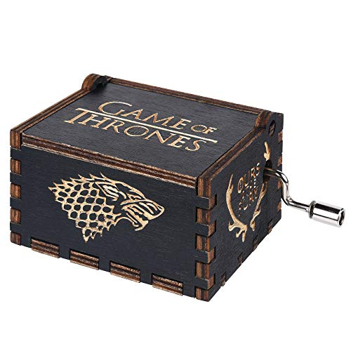 Funmo - Pure Hand-Classical Black Game of Thrones Music Box Hand-Wooden Music Box Creative Wooden Crafts Best Gifts