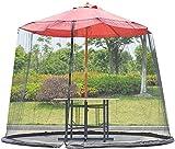 QWEEF Red de sombrillas de jardín Jardín Parasol Net Outdoor Garden Paraguas Table Screen Terraza Net para Gazebo Patio de la sombrilla de la sombrilla del jardín (Color : Black, Tamaño : One Size)