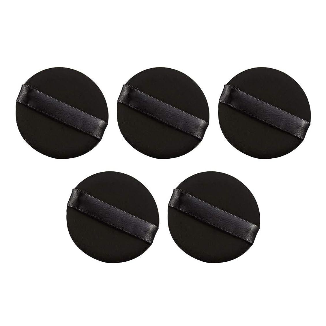 札入れ凍った寸前Frcolor パウダーパフ エアクッション 化粧ツール ラテックスではない 弾力性 化粧品 旅行用 5個セット(ブラック)