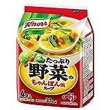 クノール たっぷり野菜のちゃんぽん風スープ 4食 ×10袋