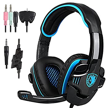 Stereo Gaming Headphone SADES SA708GT PS4 Gaming Headphone with Microphone  Blue