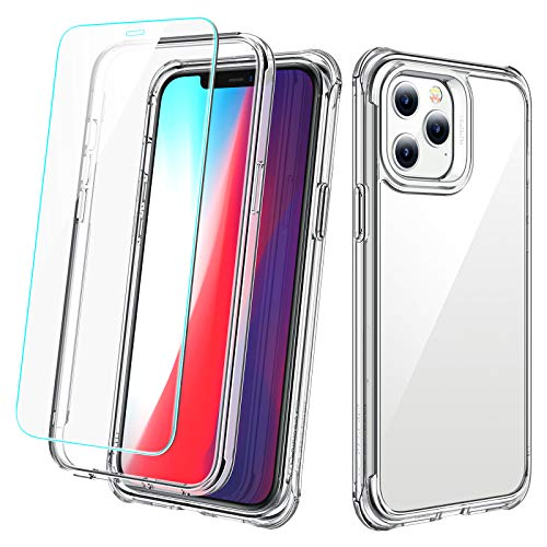 ESR Tough Case for iPhone Pro Case 6.1' [2 Screen Protectors] [Full-Body Hybrid Protection] Alliance Series for iPhone 2020 Case – Clear