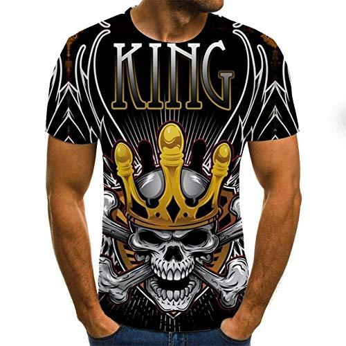 T Shirt Men Clothes Mens Summer Skull Print Men Short Sleeve T-Shirt 3D Print T Shirt Casual Breathable Funny T Shirts M Txu-1181