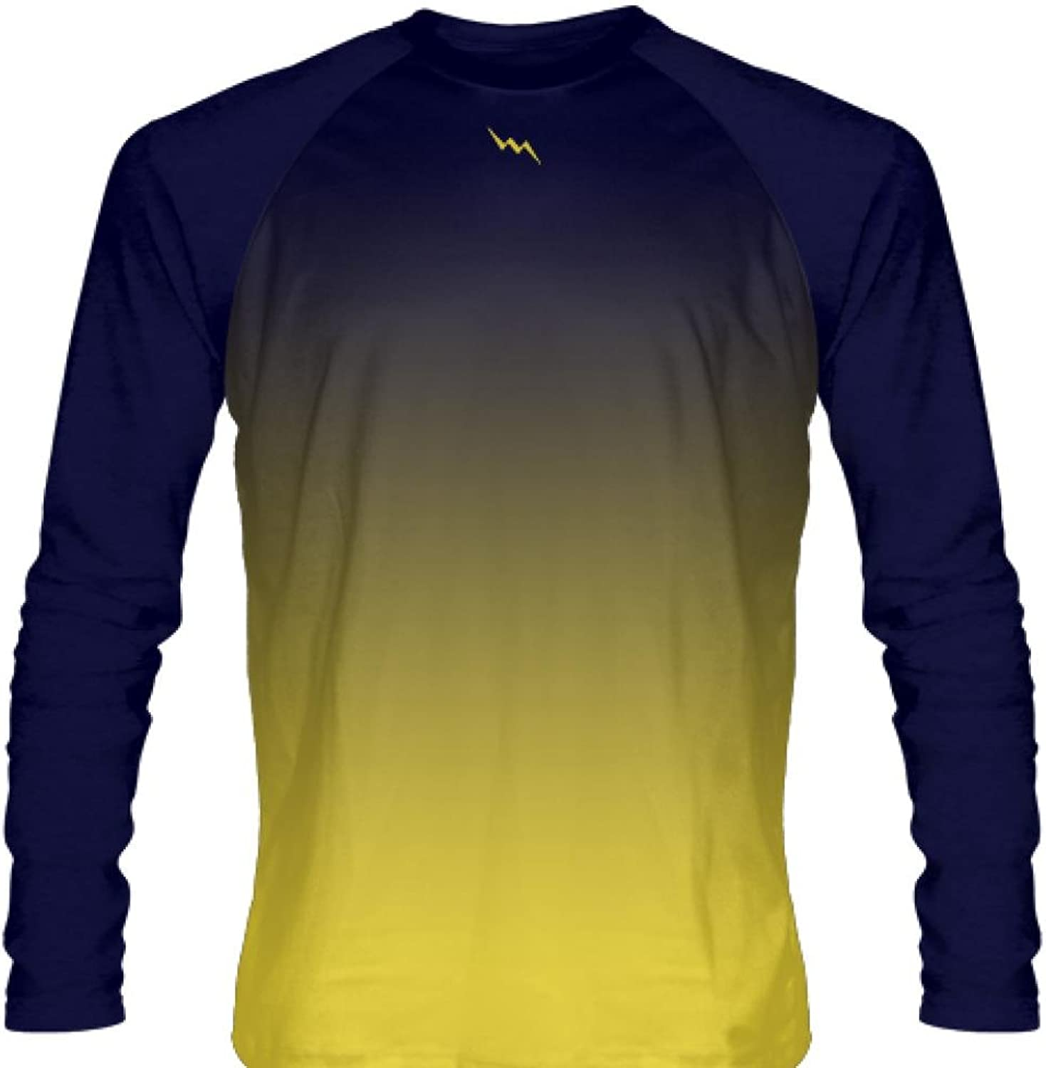 LightningWear Navy bluee Long Sleeve Lacrosse Shirts