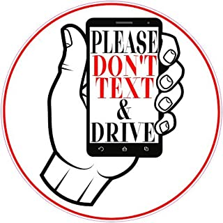 U.S. Custom Stickers Please Don't Text and Drive Phone Sticker, 7