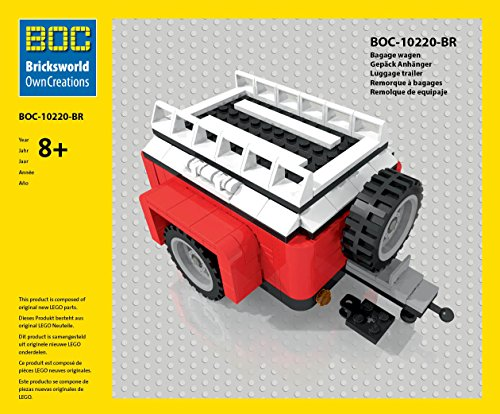 LEGO BOC-BR Gepäck Anhänger Farbe Rot Zubehör 10220 Bus