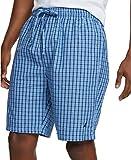 Nautica Men's Soft Woven 100% Cotton Elastic Waistband Sleep Pajama Short, French Blue, X-Large