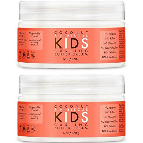 SheaMoisture Kids Curl Butter Cream, Coconut & Hibiscus, 6 oz - 2pc by Shea Moisture