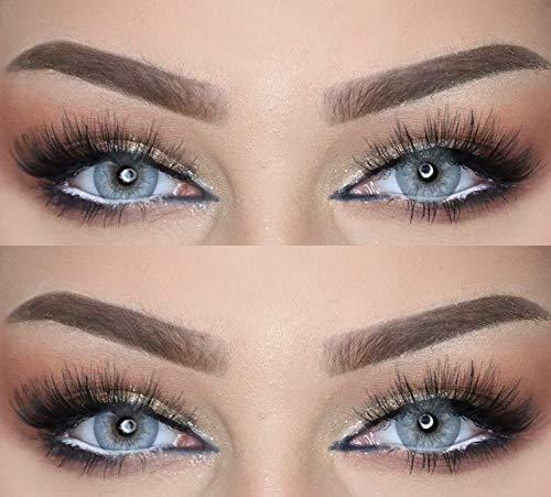Farbige Kontaktlinsen DUBAI NIGHTS die schönsten Farblinsen für orientalische, braune Augen ohne Stärke (Naturgrau)