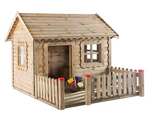 Unbekannt Spielhaus Lucas mit Veranda - Holz-Spielhaus Kinder-Garten Kinder-Haus