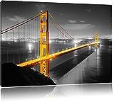 riesige Golden Gate Bridge schwarz/weiß Format: 120x80 auf