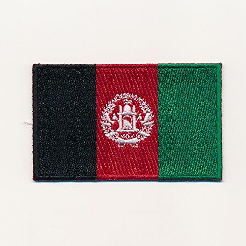 80 x 50 mm Afghanistan Flagge - Kabul Flag - Patch Aufnäher Aufbügler 0935 X