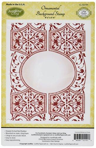 Justrite Gummi im Papierbasteln nur Rite Papier Craft selbst Hintergrund Stempel 11,4x 5.75-inch-Ornamental