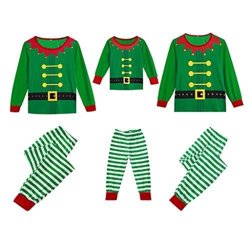 Holeider Weihnachten Pyjama Familie Schlafanzug Kind Mutter Vater Nachtwäsche Familien Outfit Langarm 3D drucken Tops + Hose Homewear Set Weihnachts Nachthemd Weihnachtskostüm