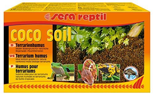 sera (32042) reptil coco soil Terrarienhumus aus Kokos-Fasern für Feucht Terrarien, hitzebehandelt, keim- & pilzfrei, ergibt 8 Ltr. Bodengrund, Humusziegel, Blumenerde aus Kokosfaser, Kokosblumenerde