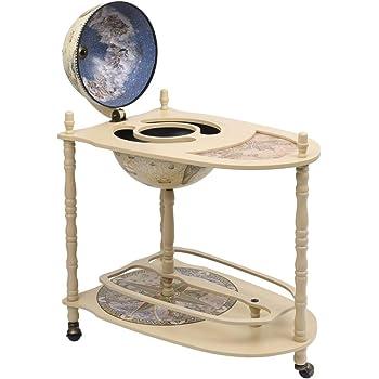 pedkit Minibar, diseño de Globo terráqueo Mueble Bar Soporte de pie Bola del Mundo Madera eucalipto Verde 2#