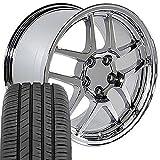 OE Wheels LLC 17 Inch Fit Corvette Camaro C5 Z06 Style Chrome 17x9.5 Rims Toyo Proxes Sport All Season Tires SET