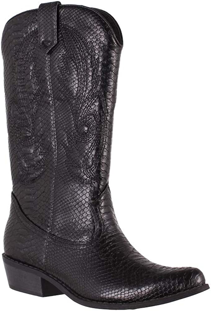 Coconuts by Matisse Women's Gaucho Boot M 6.5 Snake Ranking integrated 1st Max 58% OFF place Black US