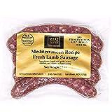 MeatCrafters Mediterranean Lamb Sausage, No Antibiotics, Preservative Free, 48oz (4-Pack, 16 Total Links)