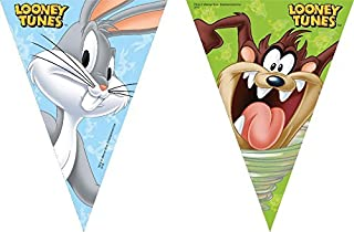 UNIQUE PARTY 72170 - 2.3m Looney Tunes Bunting Flags