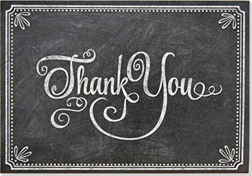 Chalkboard Thank You Notes (Stationery, Note Cards, Boxed Cards) by Peter Pauper Press (2015-01-15)