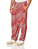 Zubaz Men's Classic Zebra Printed Athletic Lounge Pants, red/Gray, XL