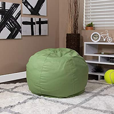 Flash Furniture Small Solid Green Bean Bag Chair for Kids and Teens by Flash Furniture