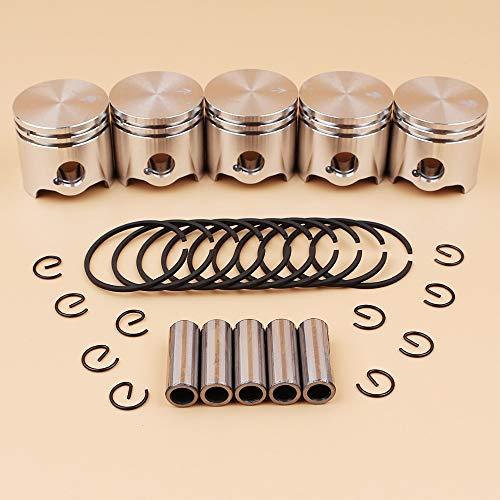 Tiempo Beixi 5pcs / Lot 35mm Pistón los Anillos Pin Kit for STIHL FS120 FS300 FS120R BT121 FS 120 300 Desbrozadora cortadora de Hierba de Piezas de Repuesto