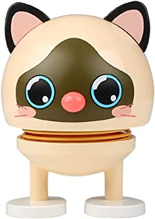 Dinapy Juguete muñeca decoración del Coche rebotando Cabeza Colgante decoración del hogar Oficina Creativo Swing Emoji Linda Figura Ornamento Ventana alféizar Accesorios