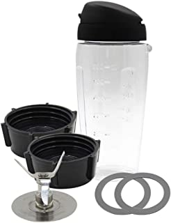 Anbige Replacement parts Cups with Blade and lid Blend-N-Go Smoothie Kit ,Compatible with Oster Blender