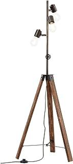 BRILLIANT lampadaire Woodhill lampadaire 1 lumière antique/noir |4x A60, E27, 30W, adapté aux lampes standard (non inclus...