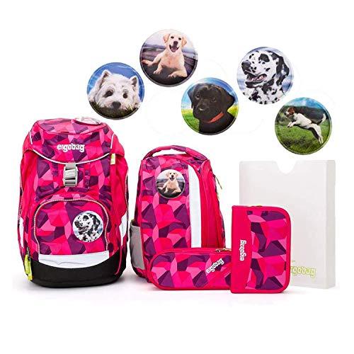 Ergobag Pack Set 6tlg Prima Bärllerina mit Wunschkletties Hunde