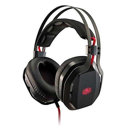 Cooler Master MH-750 - Auriculares para gaming, Diadema MasterPulse, Bass FX, Micrófono Oculto, Negro