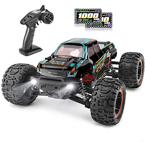 HAIBOXING Ferngesteuertes Auto 1/16 4WD RC Auto 36 km/h Hochgeschwindigkeits RC Monster Truck 2,4 GHz Rennwagen Wasserdicht Geländewagen RC Crawler Auto Spielzeug für Kinder Geburtstags Geschenk