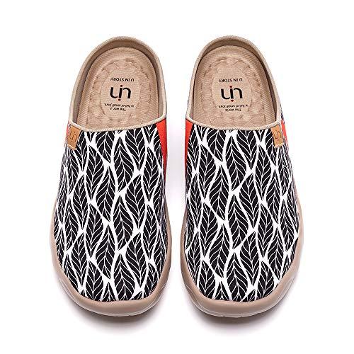 UIN Women's Lightweight Slipper Walking Flats Casual Art Painted Travel Shoes Beyond The Shadow (38)