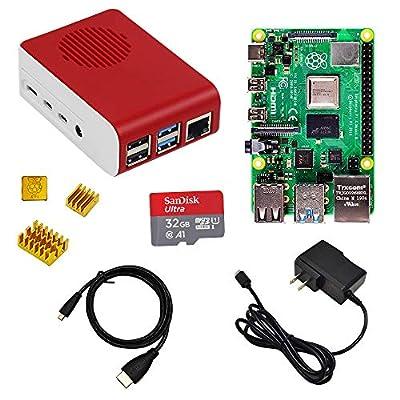 LANDZO Raspberry Pi 4 4GB Starter Kit with 32G SD Card (4GB ARM)