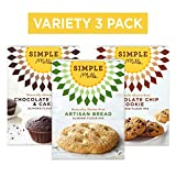Simple Mills Almond Flour Mix Variety Pack:, (1) Artisan Bread, (1) Chocolate Chip Cookie, (1)...