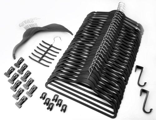 GUTSMIEDL PRODUKTE Organizzazione Set 57Pezzi Nero/Magic Smart salvaspazio Appendiabiti
