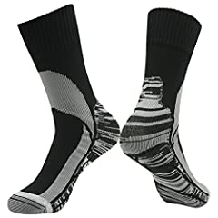NOTE & SIZE: Take note that our Waterproof Breathable Skiing Socks with a Three-Layer Construction might be A Little Thick to stuff into some shoes. Please match with Loose Fit Shoes. THREE SIZES (UNISEX): Small (US Men 7.5-9.5, US Women 8.5-11); Med...