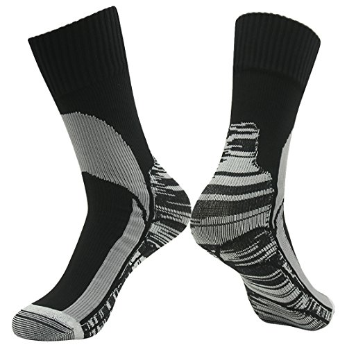 100% Waterproof Socks, RANDY SUN Men's Women's Fashion Coolvent Windproof Business Socks Climbing Cycling Fishing Sports Socks Black Grey