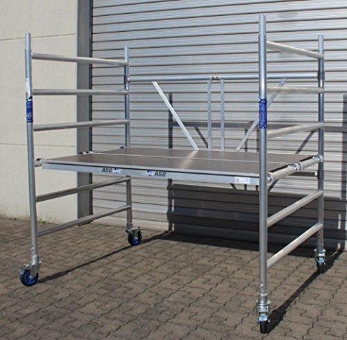 Profi-Rollgerüst XL-Plattform 130 x 190 cm, Arbeitshöhe bis 3,0 m, TÜV/GS, erweiterbar