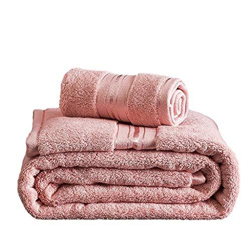 WYH Toallas de Mano Las Toallas de Baño Set Color Puro Toallitas Prima la Calidad del Algodón Altamente Absorbente Toallas del Hotel Sauna Casero (Paquete de 2) Secado rápido (Color : Pink)
