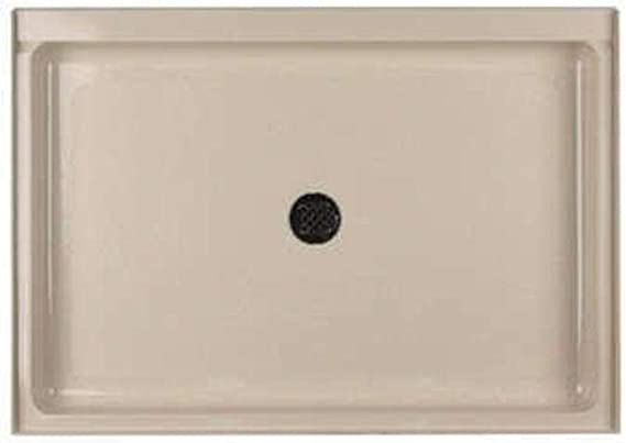 Swanstone Sf03448md 042 Solid Surface Center Drain Shower Base 48 In L X 34 In H X 5 5 In H Gray Granite Shower Bases Amazon Com