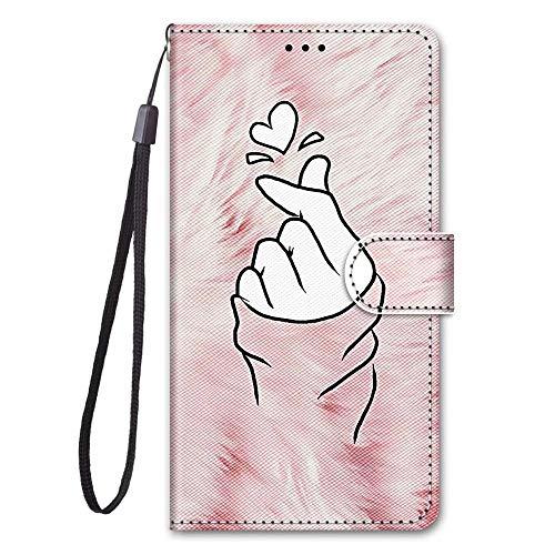 Miagon Full Body Flip PU Leder Schutzhülle für Xiaomi Redmi Note 9 Pro,Bunt Muster Hülle Brieftasche Case Cover Ständer mit Kartenfächer,Finger